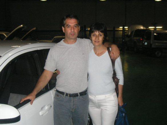 Liliana Piastrelini y su esposo Ruben, con su Fiesta Edge plus 0Km
